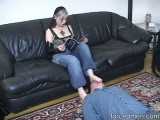 Female-dom likes having her feet licked