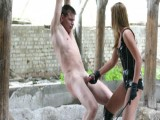 Brutal outdoor anguish by marvellous russian Domina Tanya-in-latex