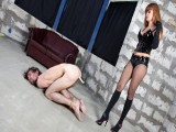 Tied dude acquires abused and tortured by a female-dominant mad to destroy his schlong