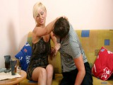 Angry lady punishes her dude with faceslaps and brutal trampling
