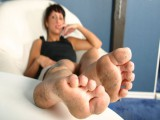 Come on villein my feet are damn smutty – clean em up now!