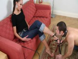 Excieting footsucking and face sitting clip with a masterful woman
