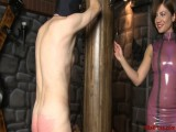 Flogging Villein with A Strap