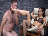 Bitch goddess wishes slave's tongue